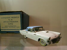 CONQUEST MODELS 16 FORD THUNDERBIRD HARDTOP 1957 WHITE/BLUE HAND-BUILT SCALE1:43