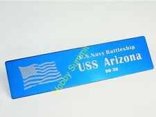 WWII US Battleship ARIZONA BB-39  Metal NAMEPLATE  US Navy 1/200 1/350 DIsplay