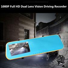 4.3 HD Video Dual Lens DVR LED Camera Rearview Mirror Car 1080P Driving Recorder
