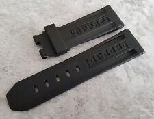 Genuine OEM Officine Panerai Ferrari 22mm Black Rubber Deployment Clasp size XS