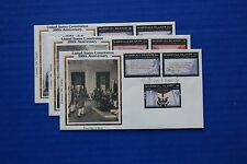 "Marshall Islands (143-51) 1987 Us Constitution Bicentennial Colorano ""Silk"" Fdcs"