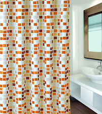 Cortina de ducha Mosaico beige 180 x 200 Departamento baño textil