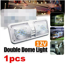 1x RV Interior 48LED Ceiling Light Boat Camper Trailer Double Dome DC 12V