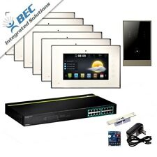 6 Monitor Residential Commercial Property Video Intercom Security System Kit
