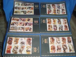 6 Stamps Complete Small Sheets On Indian Cinema  from India 2012