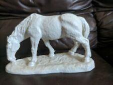 Vintage German Schaubach Kunst Porcelain Blanc de Chine HORSE SCULPTURE figurine