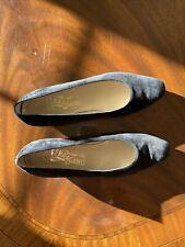 Ferragamo Black Suede Vintage Shoes