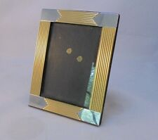 """Pre-owned brass and nickle colored metal 3.5""""x5"""" picture frame"""