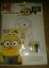 Despicable Me Colouring Set  Party Loot  Minions Colouring & reusable stickers
