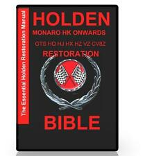 HOLDEN MONARO HK HT HG HQ HJ HX HZ  GTS VZ CV8Z INFORMATION CD