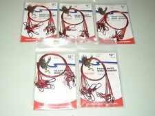 """60 RED EAGLE CLAW 12/"""" WIRE LEADERS 6 TO A PK 30LB TEST 10 PK"""