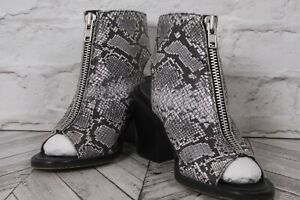NEW LOOK High Heel Boots PREMIUM Faux Snake Leather Ankle Block RRP £49 UK5 EU38