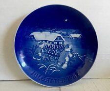 "Royal Copenhagen B & G Jule After 1982 The Christmas Tree 7"" Plate, Blue Denmark"