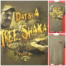 "Troy Landry Alligator Gator Swamp People Tshirt  A Tree Shaka Med 21"" Pit2Pit"