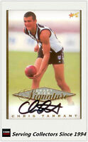 1998 Select AFL Series Draft Pick Signature Card SC5:Chris Tarrant (Collingwood)