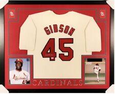 Bob Gibson St. Louis Cardinals Custom Framed Autographed Jersey w/ JSA