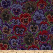 KAFFE FASSETT PANSY Fabric Fat Quarter Cotton Pansies Flowers