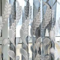 Living Room Bedroom Sheer Curtain Tulle Window Treatment Voile Drape Valance USA
