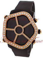 Jacob & Co Ghost Watch Digital LCD Screen Rose Gold Diamond Bezel Black PVD 47mm