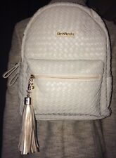 Copi GilesNBrooks Woven Chic Fashion Backpack Ivory with Tassel