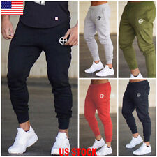 0938a5ee6dac US Men Slim Fit Jogger Sports Gym Bodybuilding Running Track Trousers  Sweatpants