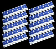 50 PCS Windows 10 Sticker Badge Logo Decal Dark Blue Color 16mm x 22mm US Seller