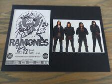 Ramones signed autógrafos en 25x35 cm Passepartout inperson raras
