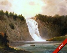 MONTMORENCY FALLS QUEBEC CANADA WATERFALL PAINTING ART REAL CANVAS PRINT