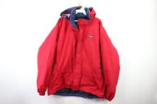 Patagonia Mens Large Full Zip Spell Out Outdoor Hiking Hooded Rain Parka Jacket