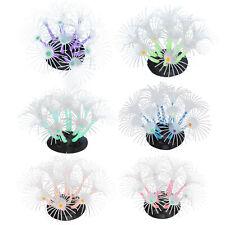 Coral Artificial Decoración Acuario Peces Planta Flor de Girasol Decoración para Tanques de Peces
