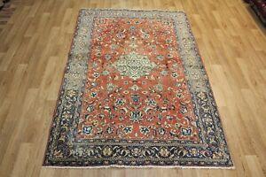 Old Hand Made Persian Traditional Mahal Sarouk rug Oriental carpets 220 x 145 cm