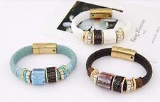 Markenlose Modeschmuck-Armbänder aus Leder und Metall-Legierung für Damen