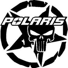 Polaris skull star snowmobile decal vinyl window sticker