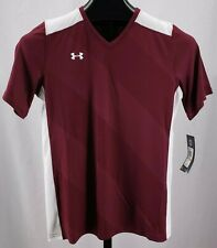 UNDER ARMOUR NWT 1247791 Fixture Soccer Jersey Maroon White Women's Sz S NEW $35