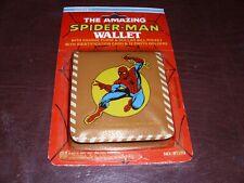 Vintage Amazing Spider-Man Wallet Marvel Avengers Rare Marvelmania NEW MOC 1978