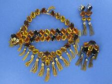 Spectacular Kramer Amber Grand Parure  - Rare Find (ST783)