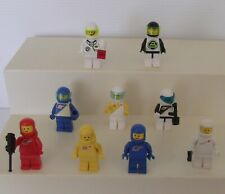 Vintage Lego Classic Space Minifigures - Collectable Toys - 9 Different