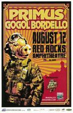 PRIMUS GOGOL BORDELLO RED ROCKS 2010 CONCERT POSTER