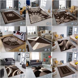 MODERN DESIGN RUG  BROWN  AREA RUG Living Room Bedroom Carpet Hallway Runner RUG