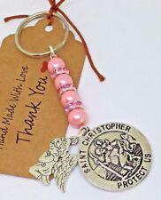 St Christopher & Guardian Angel Keyring, New Driver, Teacher gift, talisman