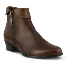 New In Box Womens Spring Step STOCKHOLM-BR Brown Leather Booties Boots