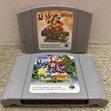 Nintendo 64 Banjo Kazooie 1 2 Japan N64 Games Game Lot Set Bundle US Seller RARE