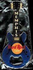 "Hard Rock Cafe MEMPHIS ""BLUE GRETSCH"" Guitar Bottle Opener Magnet - RARE"