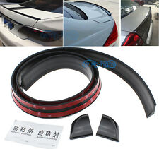 No Drilling Black Rear Tail Trunk Spoiler Lip Boot Wing Body Kit Trim For Honda
