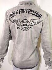 Buffalo David Bitton men's size xxl chambray distressed shirt