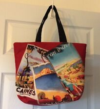 Lancôme Riviera Collection Red Canvas Tote Bag