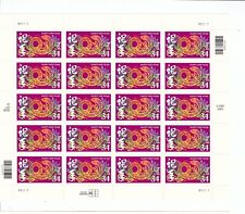 Mini Sheet of 20 #3500 Year of the Snake.  SCV=$15.00