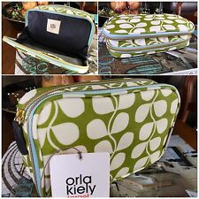 NWT Orla Kiely Target Small Tulip Double Zip Organizer Cosmetic Travel Bag Case