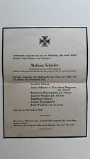 Obituary  Todesanzeige WW2 Germany 1944  Soldier Death Notice