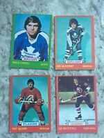 1973-74 OPC Hockey Card Lot Of 4 Cards - All good players R62